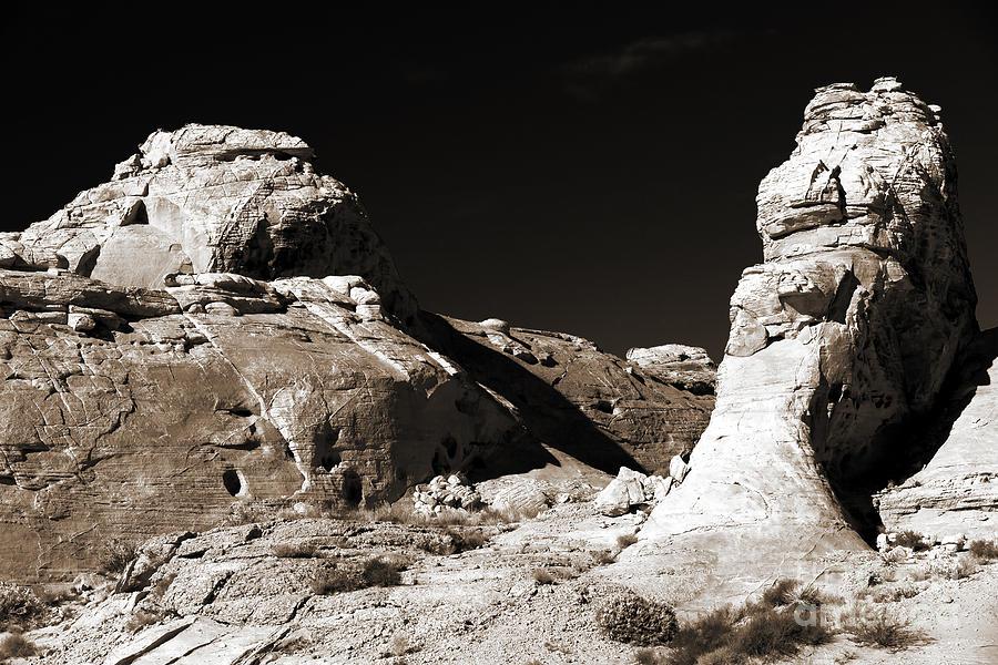 Sepia Photograph - Rock Chatter by John Rizzuto