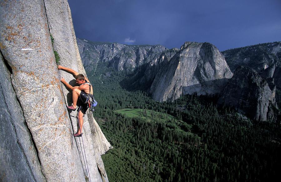 Rock Climbing On El Capitan In Yosemite