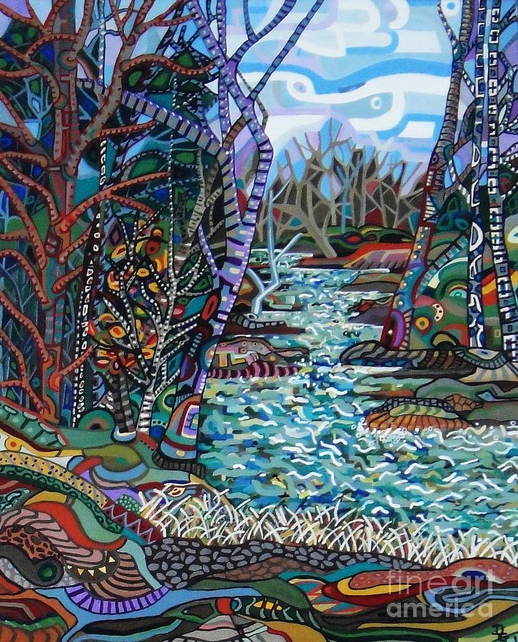 Rock Creek Painting - Rock Creek by Deborah Glasgow