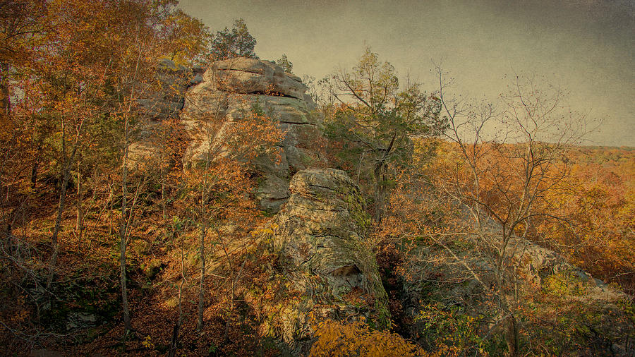 Shawnee National Forest Photograph - Rock Formation by Sandy Keeton