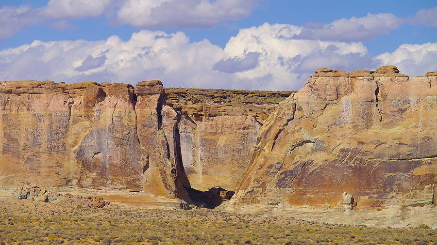 Views Photograph - Rock Formations At Capital Reef by Jeff Swan