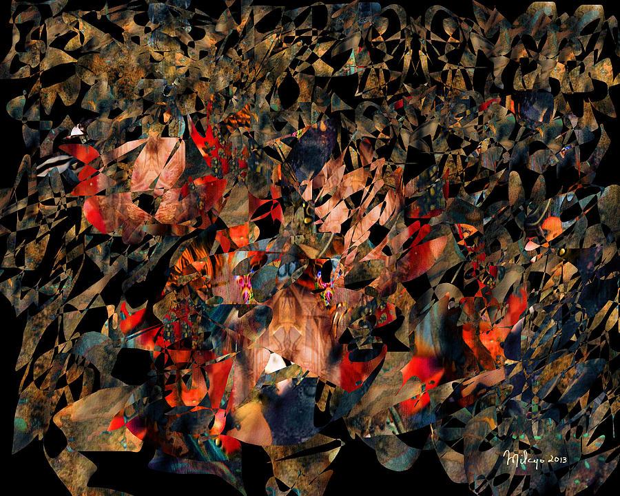 Colorful Digital Art - Rock Garden by Mike Butler