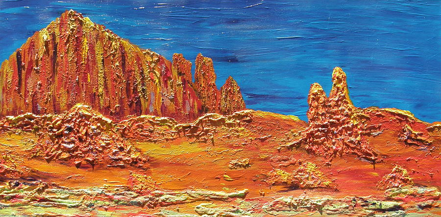 Mountain Painting - Rock Grove by Marcia Weller-Wenbert