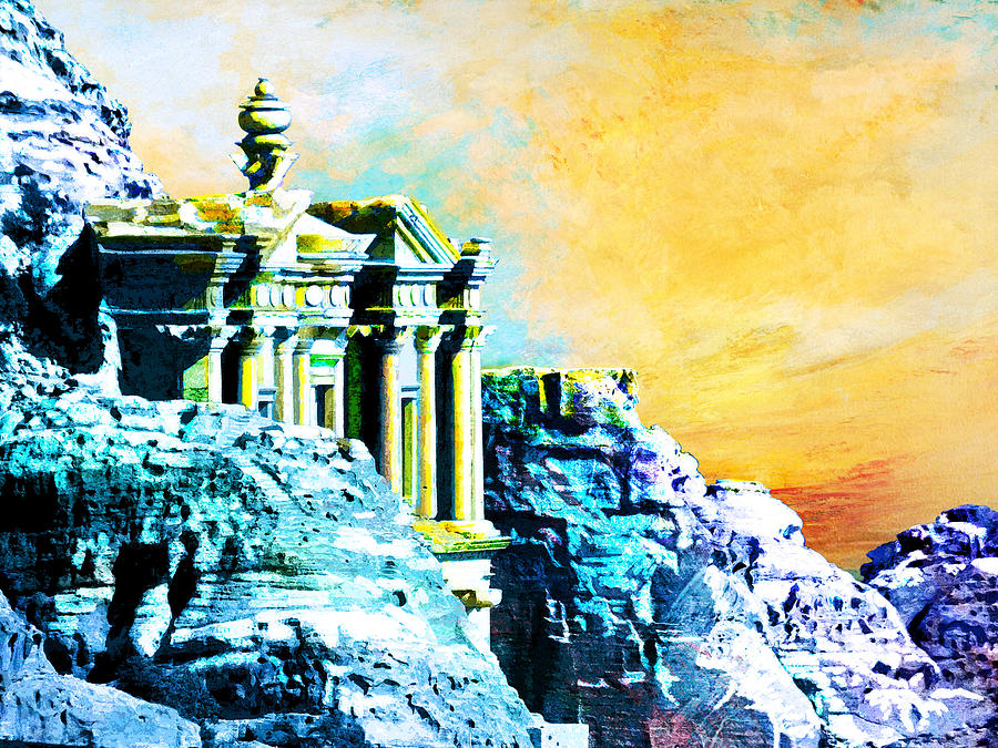 Rock Hewn Monastery Ad-deir Painting by Catf