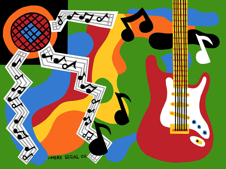 Rocknroll Painting - Rock N Roll by Mike Segal