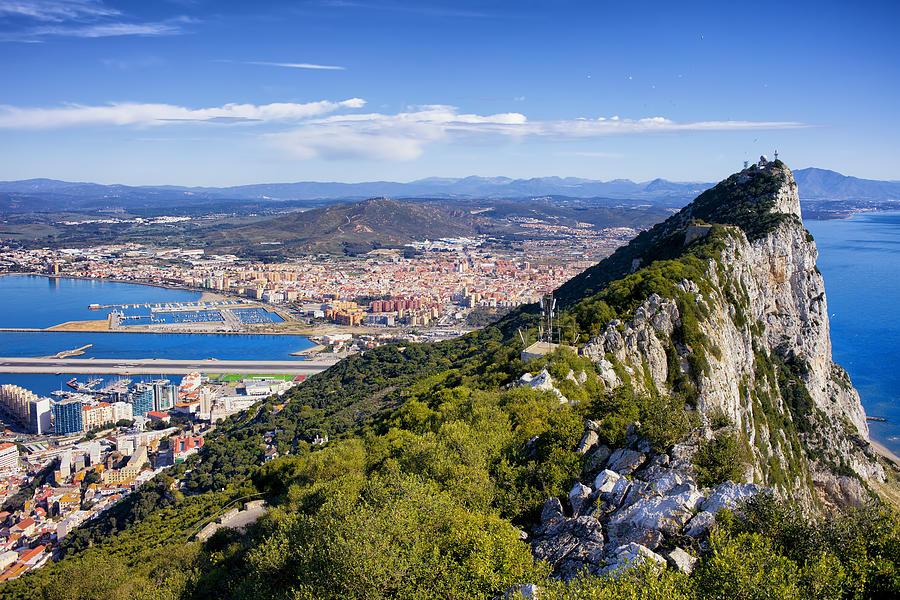 Above Photograph - Rock Of Gibraltar by Artur Bogacki
