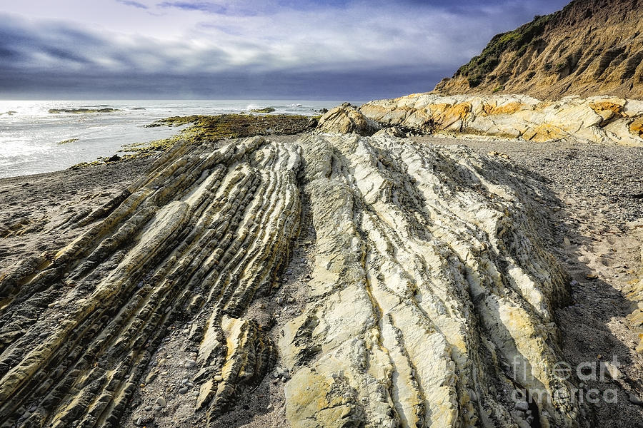 Los Osos Photograph - Rock Patterns by Timothy Hacker