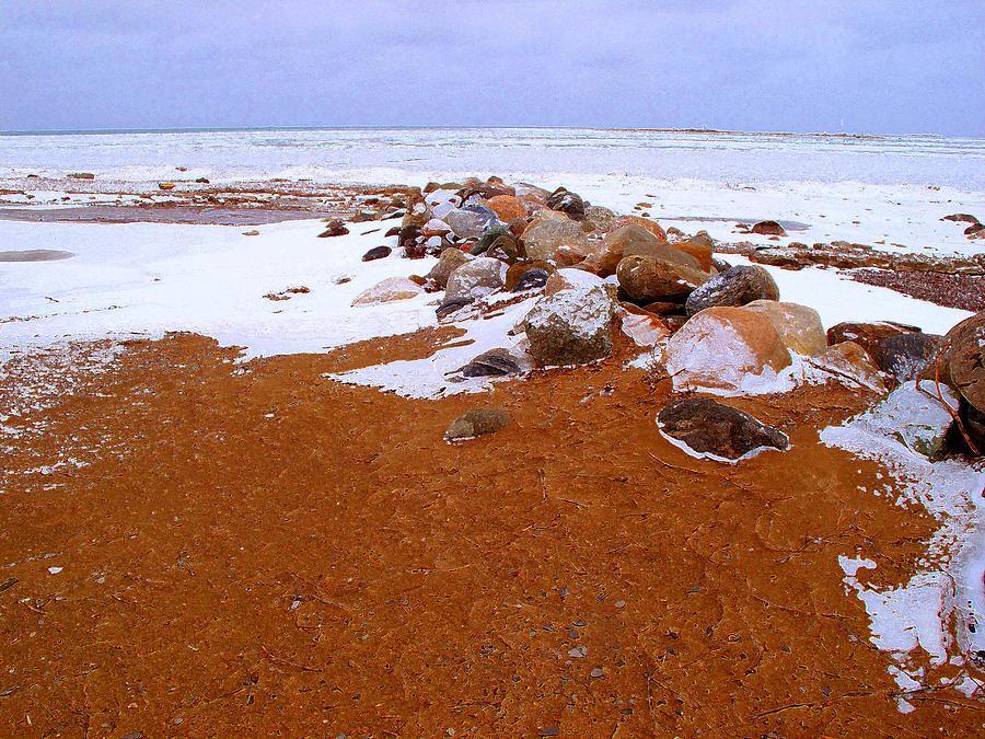 Abstract Photograph - Rock Pile In Winter Wcae2pd  by Lyle Crump