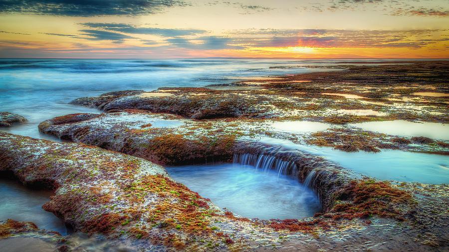 Barwon Heads Photograph - Rock Pools by Paradigm Blue