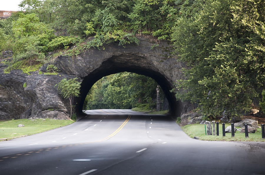 Rock Photograph - Rock Tunnel On Kelly Drive by Bill Cannon