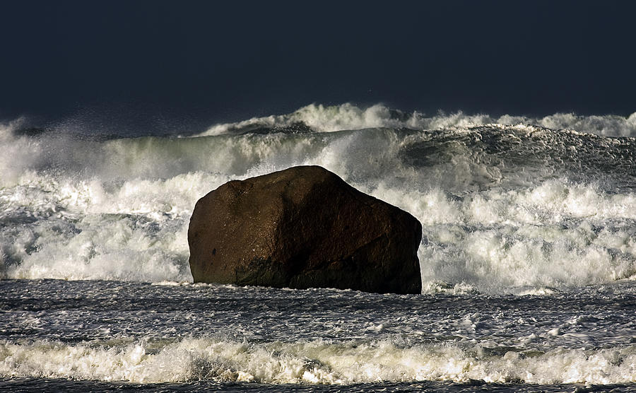 Mayo Photograph - Rock V Wave I by Tony Reddington