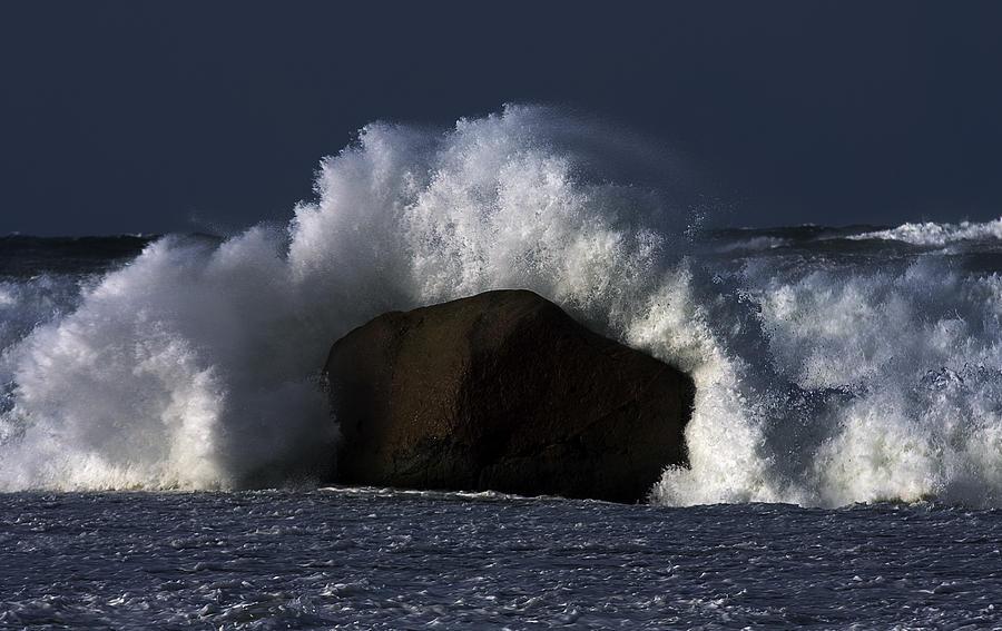Mayo Photograph - Rock V Wave II by Tony Reddington