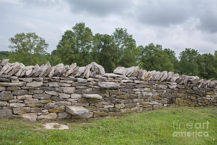Kentucky Photograph - Rock Wall Steps by Kay Pickens