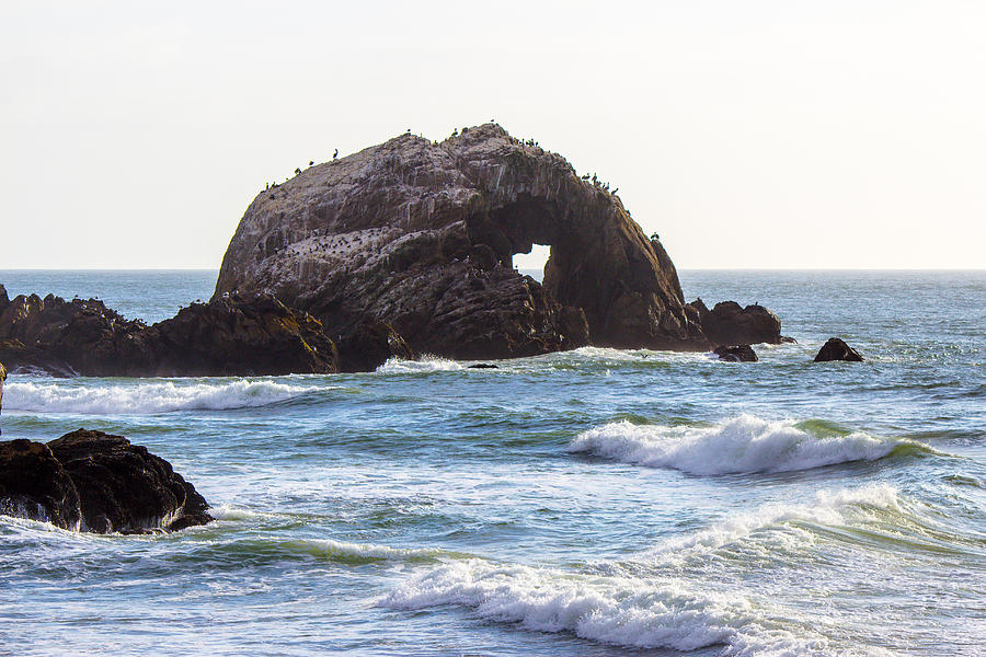 Ocean Photograph - Heart Rock near San Francisco CA Cliff House by G Matthew Laughton