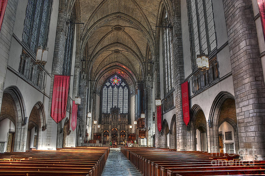 University Of Chicago Photograph - Rockefeller Chapel At The U Of C by David Bearden