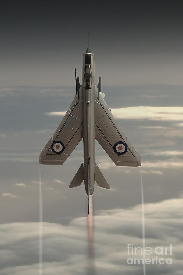 English Electric Lightning Digital Art - Rocket Ship by J Biggadike