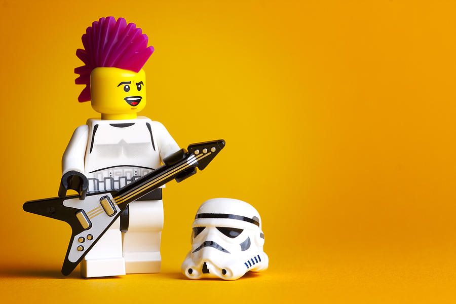 Lego Photograph - Rockin Out by Samuel Whitton