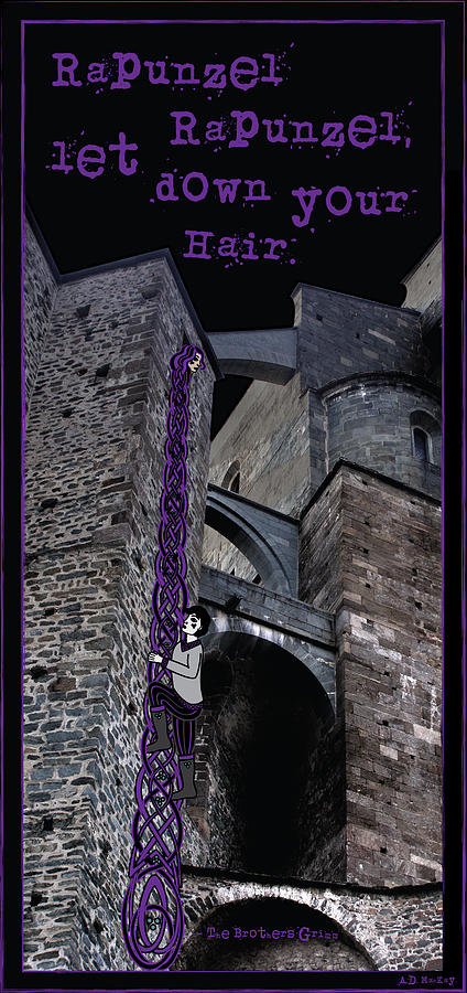 Rockin' Raven Celtic Rapunzel by Celtic Artist Angela Dawn MacKay