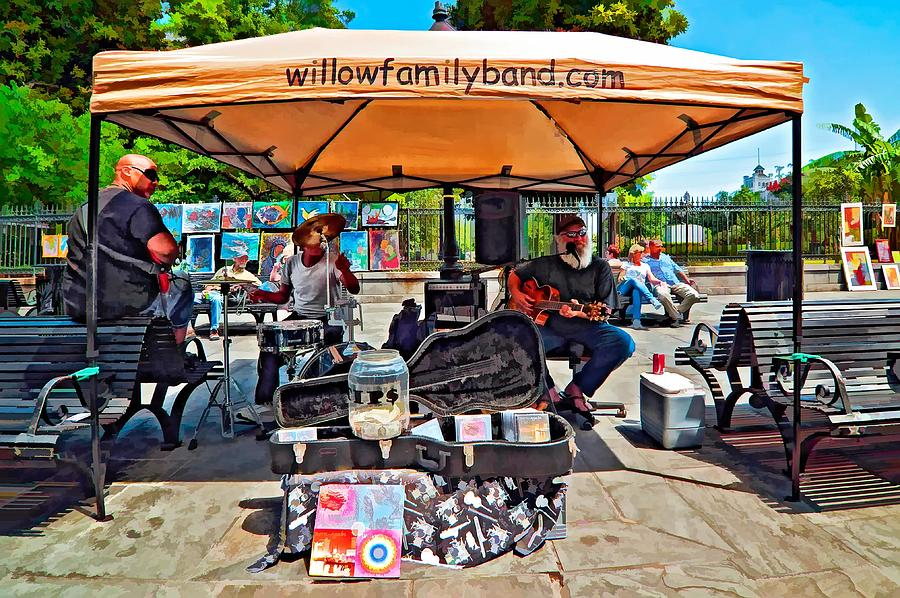 New Orleans Photograph - Rockin The Square by Steve Harrington