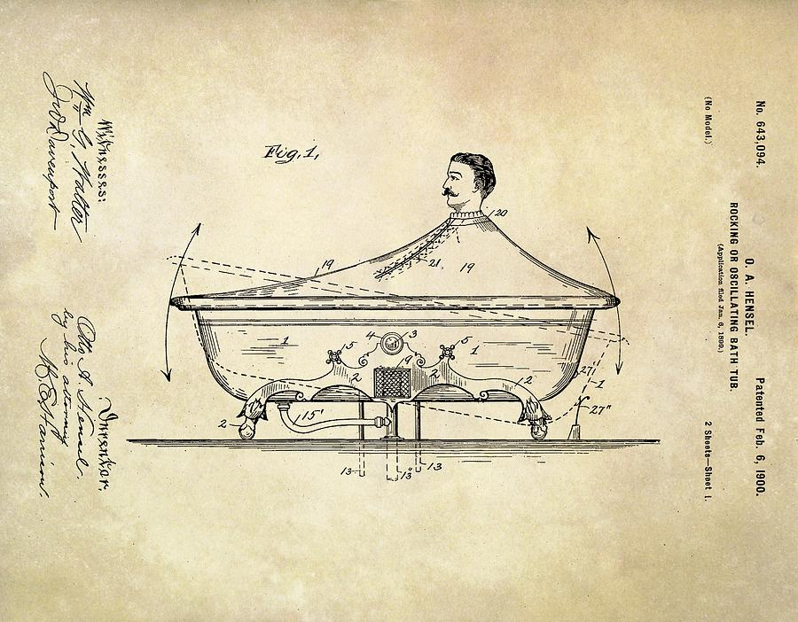 Equipment Photograph - Rocking Bathtub Patent by Us Patent And Trademark Office