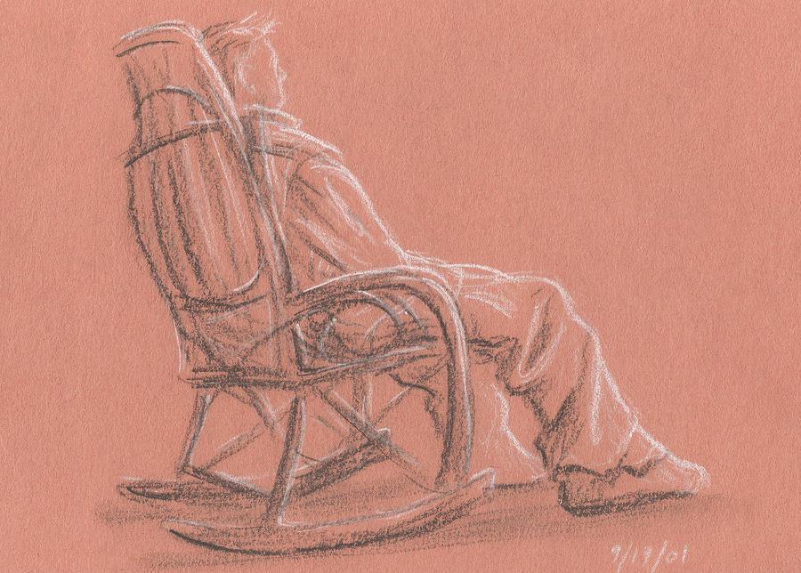 Rocking Chair Drawing By Jeffrey Oleniacz