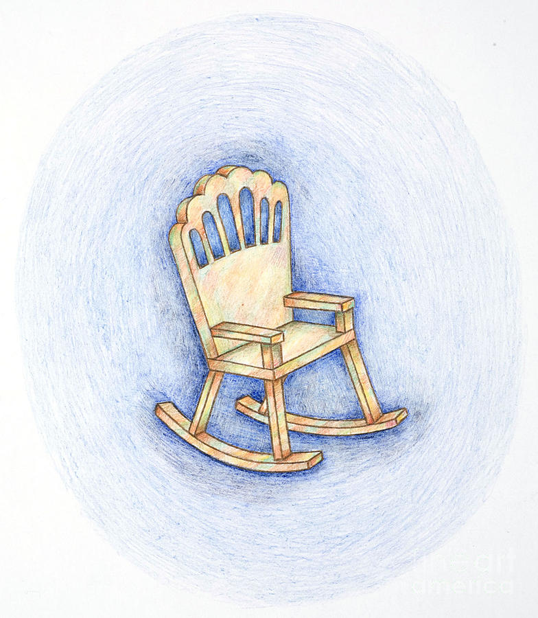rocking chair drawing. Drawing - Rocking Chair By Joy Calonico