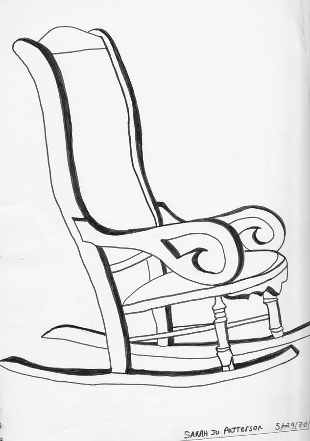 Rocking Chair Drawing - Rocking Chair by Sarah Hamilton  sc 1 st  Fine Art America & Rocking Chair Drawing by Sarah Hamilton