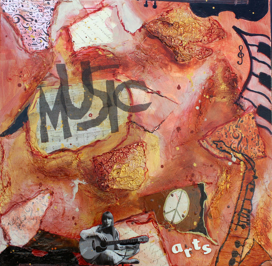 Rock N' Roll Painting - Rockit II by Victoria  Johns
