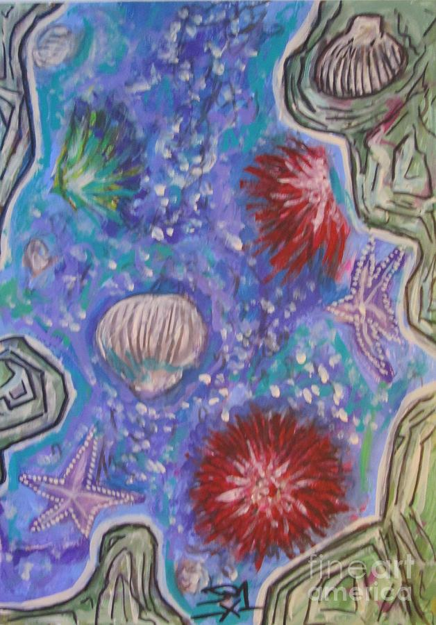 Rockpool Painting by Jedidiah Morley