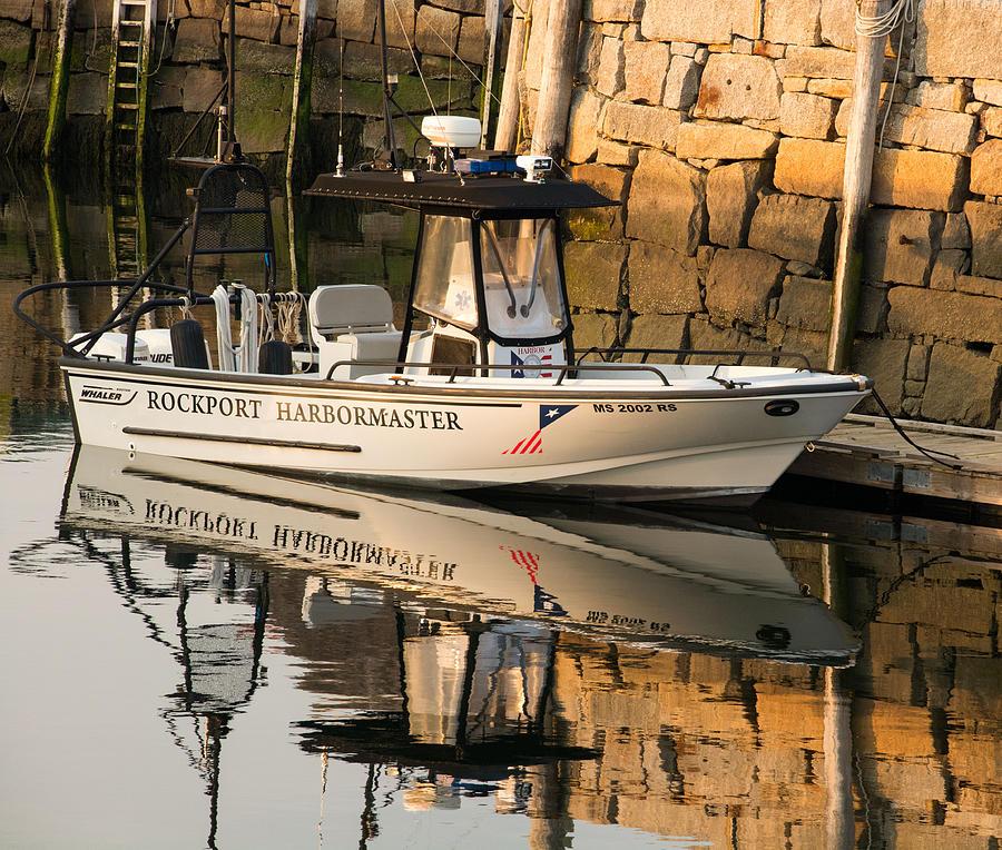 Rockport Photograph - Rockport Harbormaster Boat by Nancy De Flon