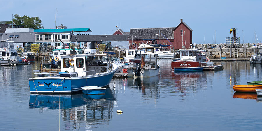 Rockport Photograph - Rockport Inner Harbor by Peggie Strachan