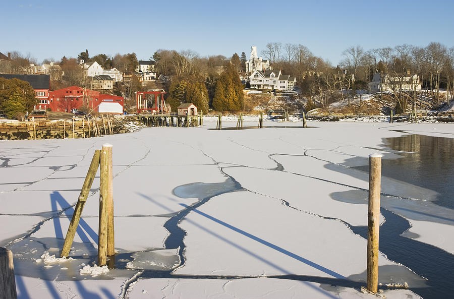 Maine Photograph - Rockport Maine In Winter by Keith Webber Jr