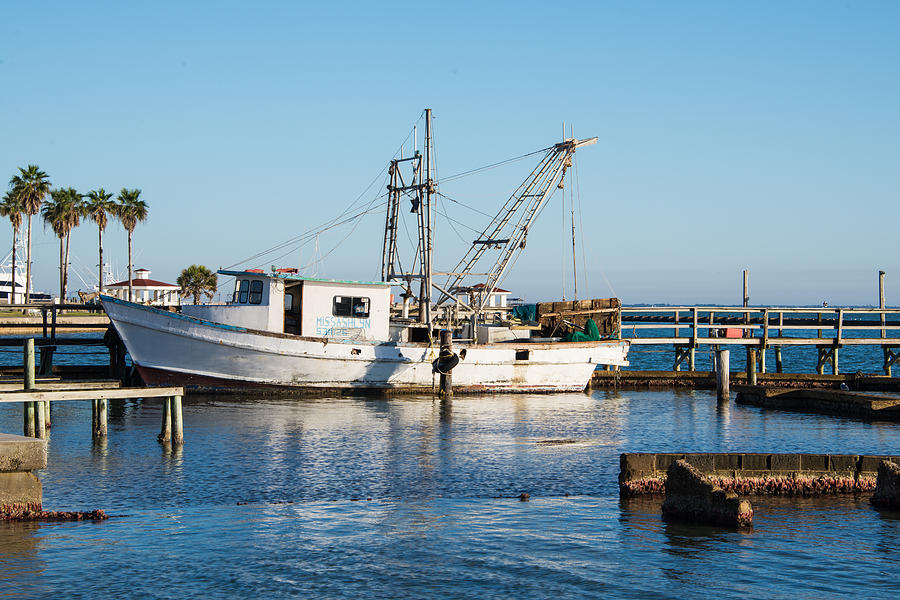 Rockport Texas Old Fishing Boat Photograph by JG Thompson