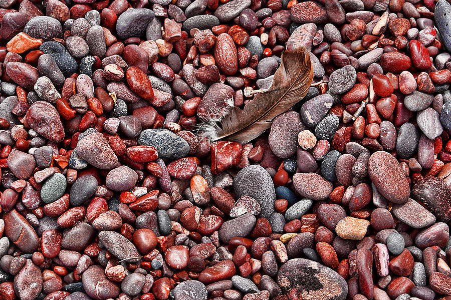 Rocks and Feather Version 2 by Greg Wells