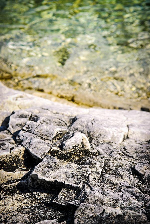 Rock Photograph - Rocks At Georgian Bay by Elena Elisseeva