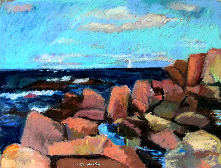 Rocks At Ogunquit by Linda Novick