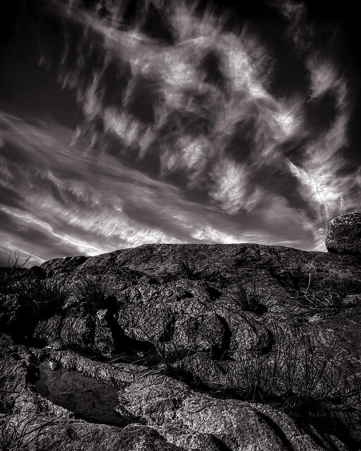 Nature Photograph - Rocks Clouds Water by Bob Orsillo