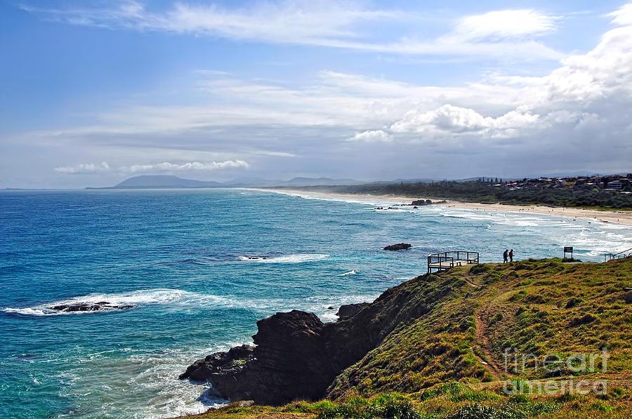 Surf Photograph - Rocks Ocean Surf And Sun by Kaye Menner