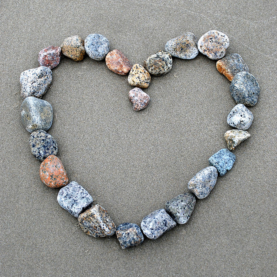 Heart Photograph - Rocks of Love by Liz Mackney