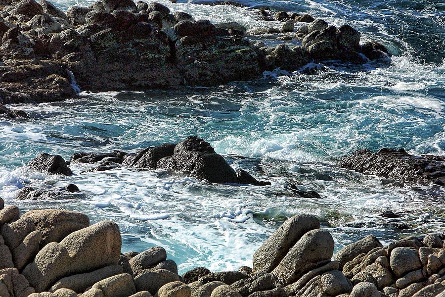 Travel Photograph - Rocks Off Shore Cabo San Lucas by Linda Phelps
