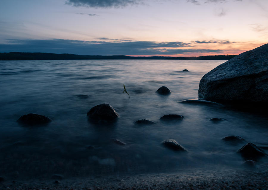 Finland Photograph - Rocks At A Shore by Janne Mankinen