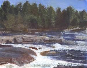 Rocks Painting - Rocks by Sheila Mashaw