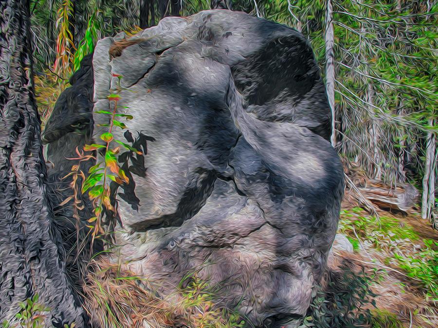 North Cascades Painting - Rocky Ancestor by Omaste Witkowski