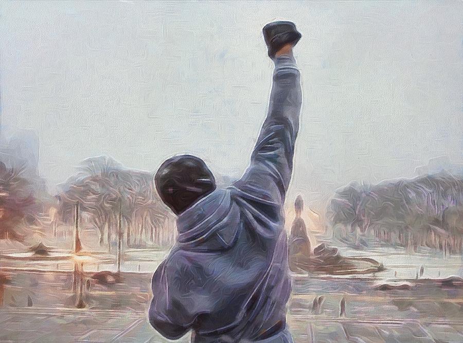 Rocky Balboa Painting - Rocky Balboa by Dan Sproul