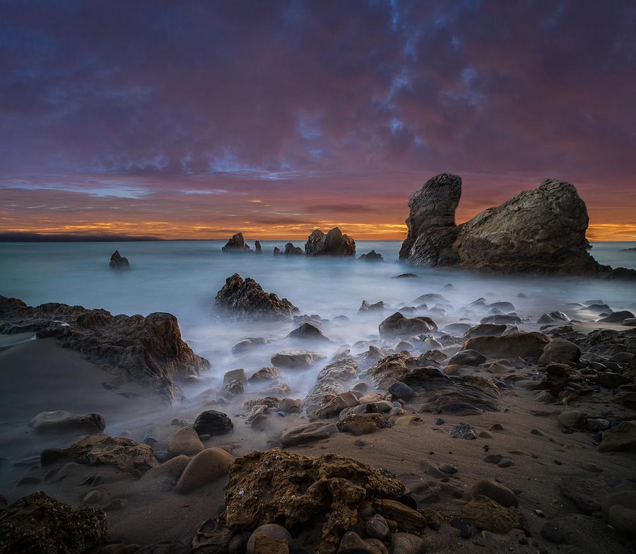 Corona Del Mar Photograph - Rocky California Beach - Square by Larry Marshall