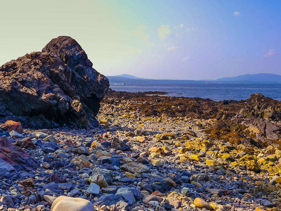 Rocky Photograph - Rocky Coast by Ernest Puglisi