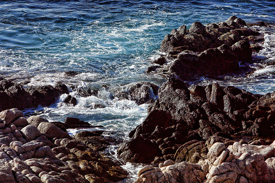 Travel Photograph - Rocky Coast by Linda Phelps