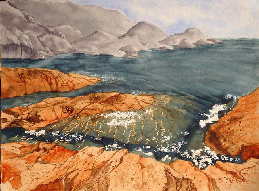 Rocky Coast by Sandra Stone