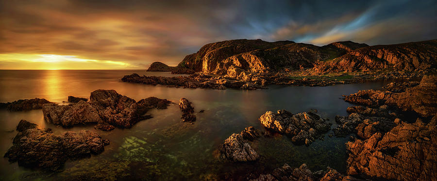 Horizontal Photograph - Rocky Coastline At Sunset, Point by Panoramic Images