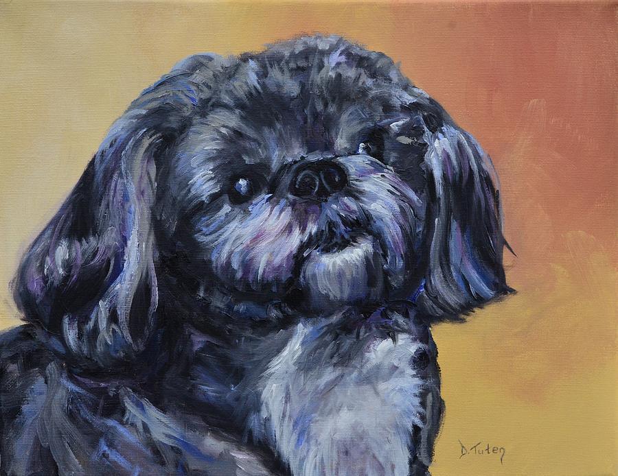Rocky Painting - Rocky Jones by Donna Tuten
